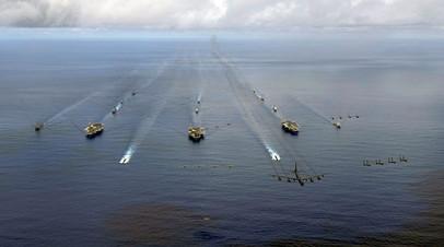 Американские корабли в Тихом океане
