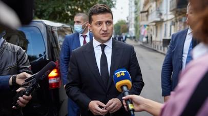 Президент Украины Владимир Зеленский комментирует встречу с представителями MI6