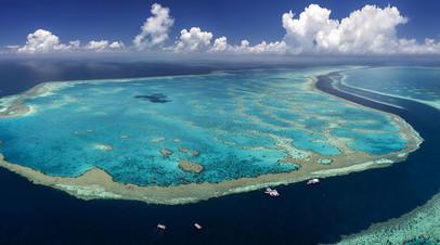 Аэросъёмка Большого Барьерного рифа