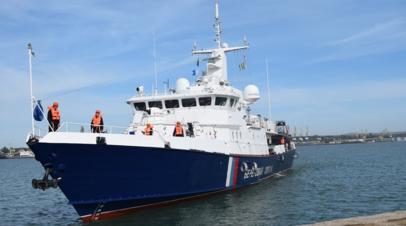 Новый сторожевой корабль «Балаклава» приступил к охране границы в районе Керченского пролива