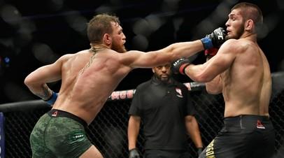 Бойцы UFC Конор Макгрегор и Хабиб Нурмагомедов