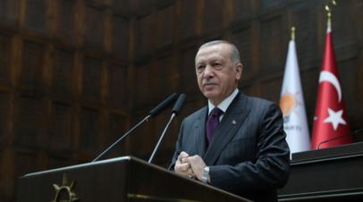 Эрдоган назвал заявления Макрона угрозой нацбезопасности Турции