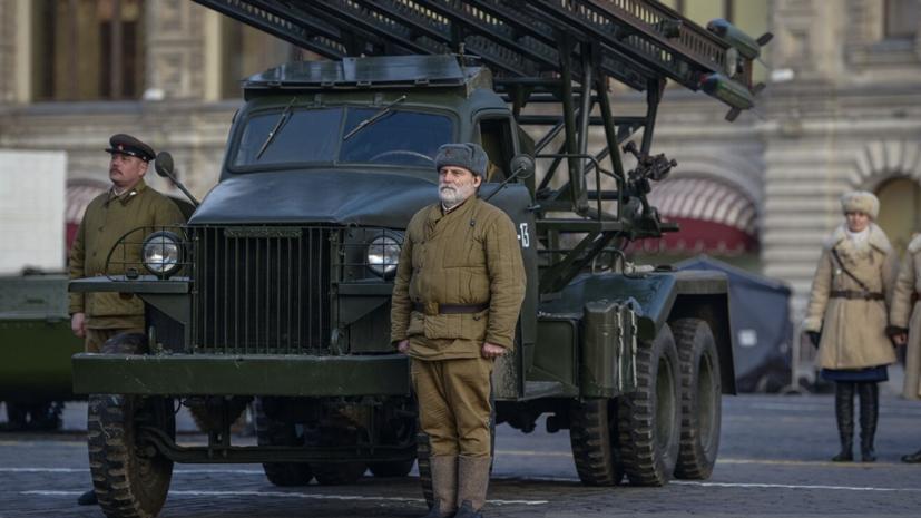 Музей боевой техники развернут на Красной площади в Москве