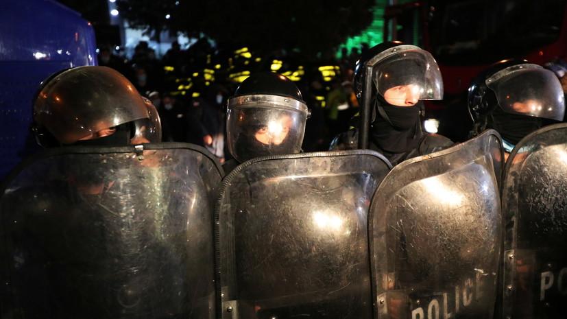 МВД Грузии опровергло сообщения о применении газа против протестующих