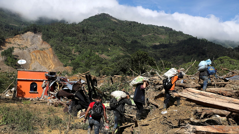 В Гватемале в результате наводнений и оползней погибли 33 человека
