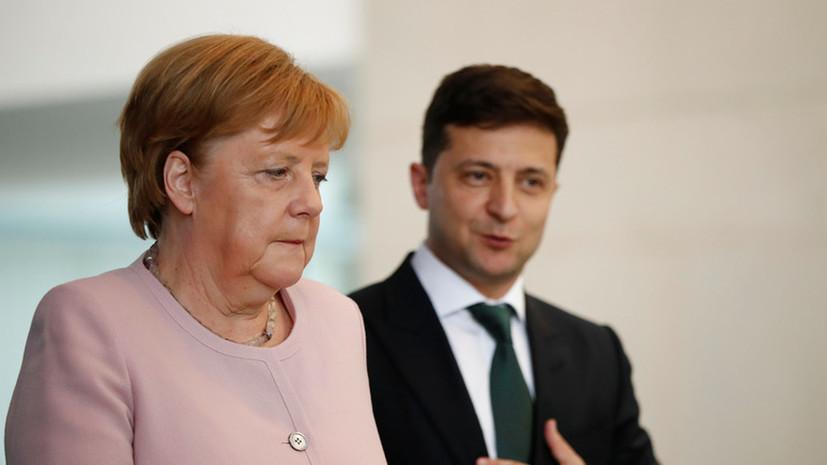 Зеленский попросил Меркель помочь Украине в получении вакцины от COVID-19