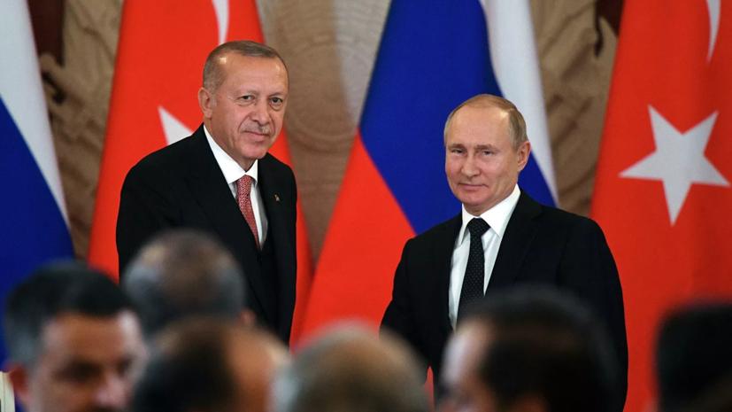 В Кремле рассказали о разговоре Эрдогана с Путиным о Карабахе