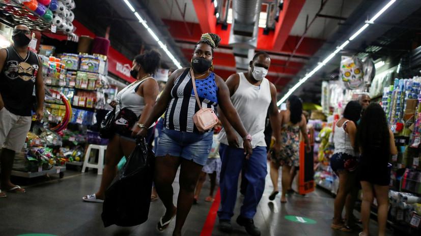 Число случаев коронавируса в Бразилии достигло 5 700 044
