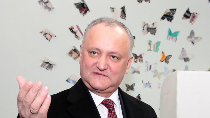 Додон выразил готовность привиться российской вакциной от коронавируса