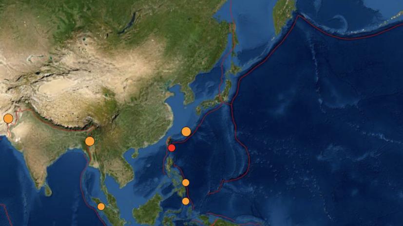 Землетрясение магнитудой 5,0 произошло у берегов Японии