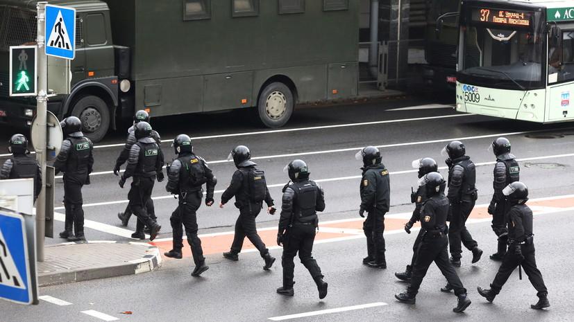 Очевидцы сообщили о применении светошумовых гранат в Минске