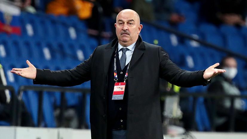 «Мы никого не боимся»: Черчесов и Джикия о настрое на матч с Сербией, замене судейской бригады и сотом матче Жиркова