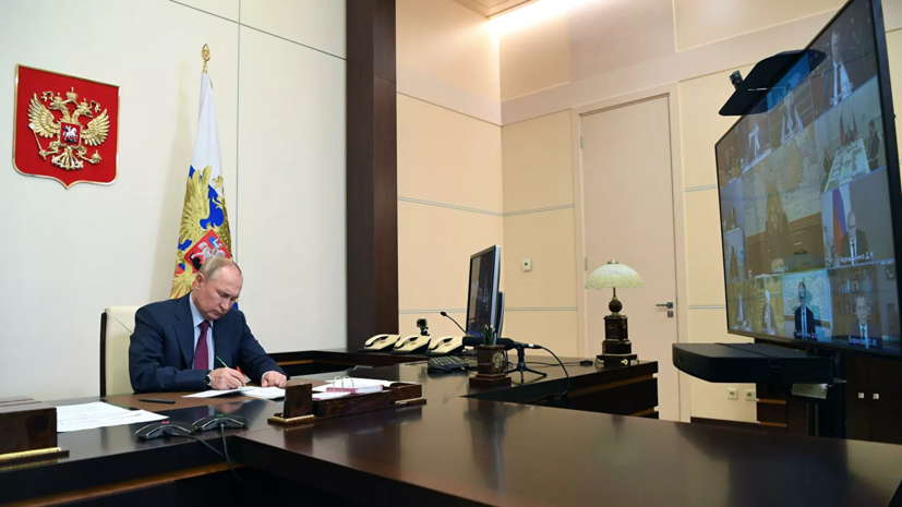Путин обратился к главам регионов из-за ситуации с коронавирусом