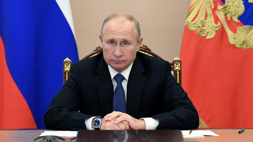 Песков: обращение Путина к гражданам пока не планируется