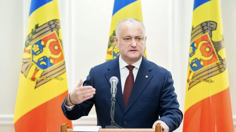 Додон назвал ошибкой слова Санду о российских миротворцах в Приднестровье