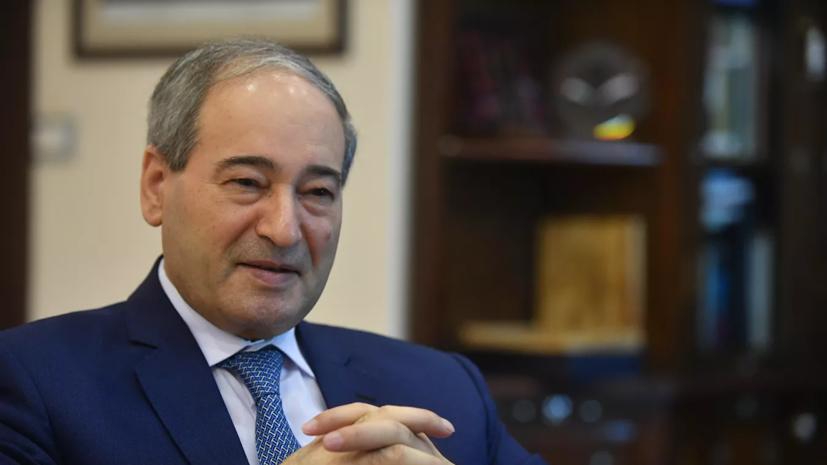 В Сирии назначили нового министра иностранных дел
