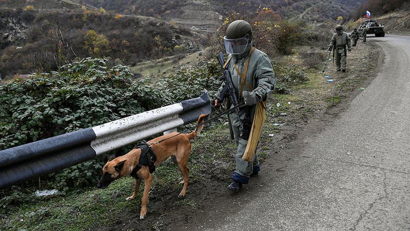 «Угрозы жизни нет»: российский военный пострадал при взрыве мины в Карабахе