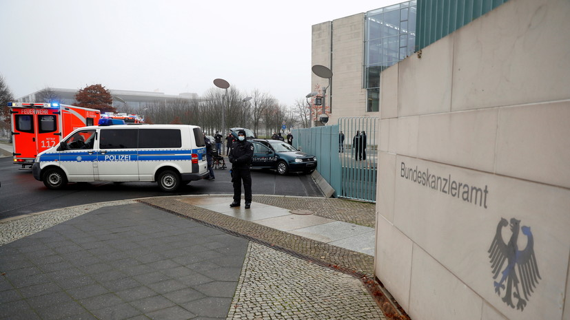 МВД ФРГ: виновник ЧП у офиса Меркель известен полиции