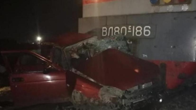 В ДТП с поездом на Кубани погибли четыре человека