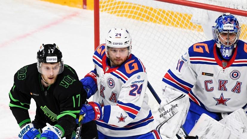 СКА отыгрался с 0:2 и по буллитам победил «Салават Юлаев» в матче КХЛ