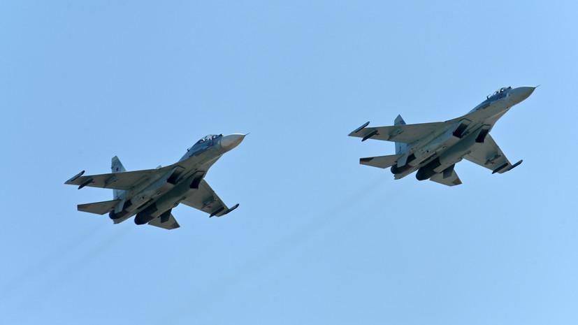 «Нарушения границы не допущено»: российский Су-27 сопроводил самолёт США над Чёрным морем