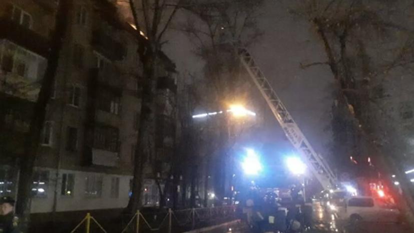 Возгорание произошло на крышах двух домов в подмосковных Химках