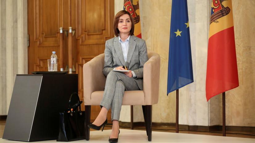 Санду назвала долг Молдавии за газ перед Россией «нечестным»