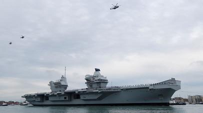 Британский авианосец HMS Queen Elizabeth