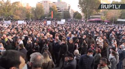 Четвёртый день протестов: в Ереване прошёл митинг противников Пашиняна
