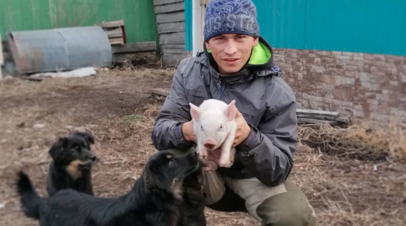 На берёзу за знаниями: омский блогер, залезавший на дерево ради дистанционного обучения, рассказал о проблемах в посёлке