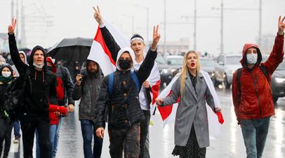Протестный митинг в Минске