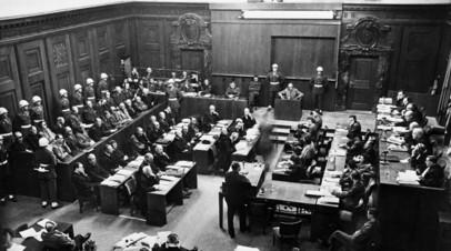 Нюрнбергский процесс. 20 ноября 1945 года — 1 октября 1946 года. В зале суда