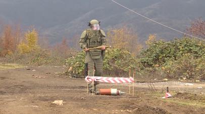 «Неразорвавшиеся снаряды могут быть где угодно»: как проходит разминирование Карабаха российскими сапёрами