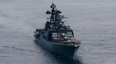 «После предостережения вышел в нейтральные воды»: российский корабль остановил нарушение границы эсминцем ВМС США