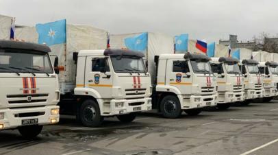 В российском МЧС рассказали о гумпомощи в Карабахе