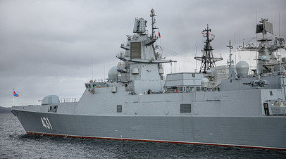 Прибытие фрегата проекта 22350 «Адмирал флота Касатонов» в порт Североморска