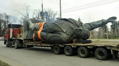 Демонтированный памятник Ленину, 2016 год