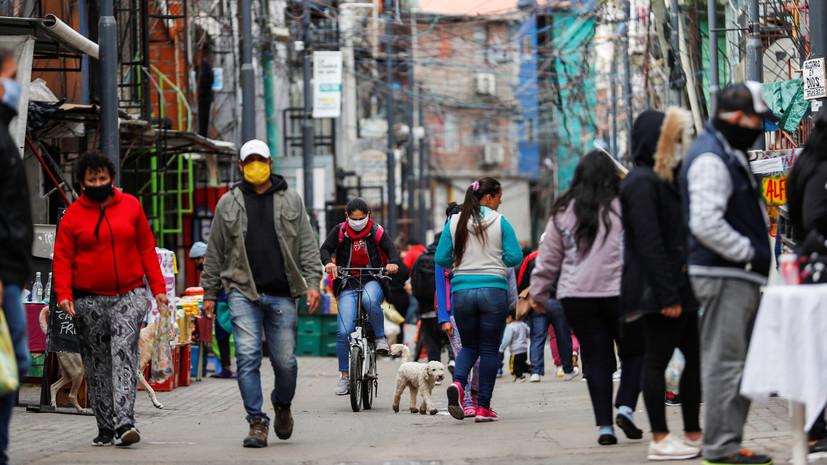 В Аргентине за сутки зафиксировали более 6 тысяч случаев COVID-19