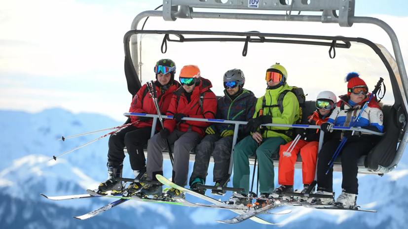 Россияне назвали любимые горнолыжные курорты страны