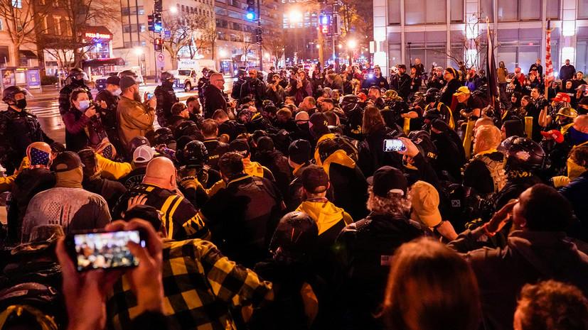 В Вашингтоне задержали более 20 человек во время акции протеста