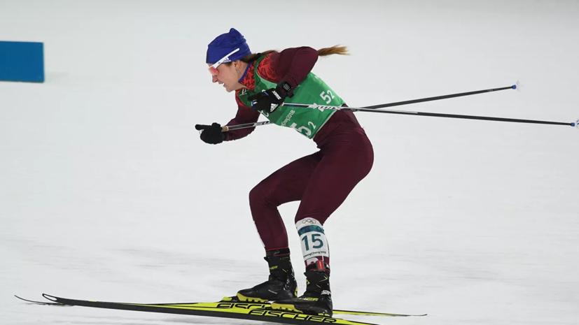 Лыжница Ступак эмоционально отреагировала на серебро на этапе КМ в Давосе