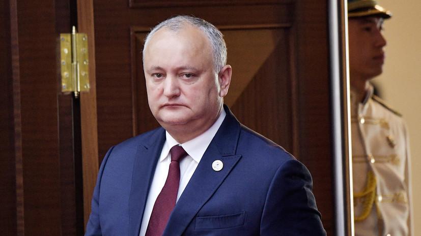 Додон оценил борьбу с коронавирусом в Молдавии