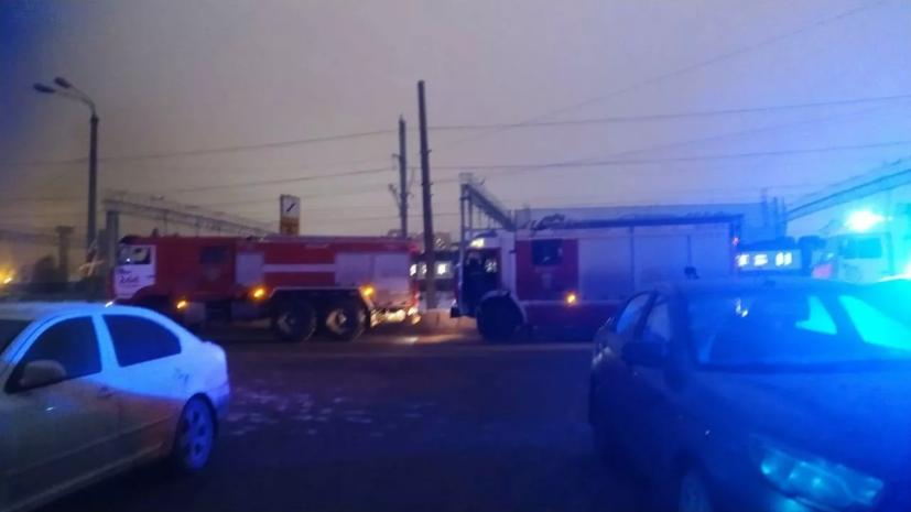 В МЧС сообщили об увеличении площади пожара на складе в Одинцове