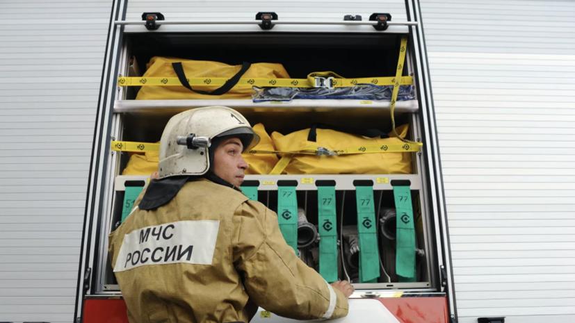 В помещении депо на угольном разрезе в Хакасии произошёл пожар