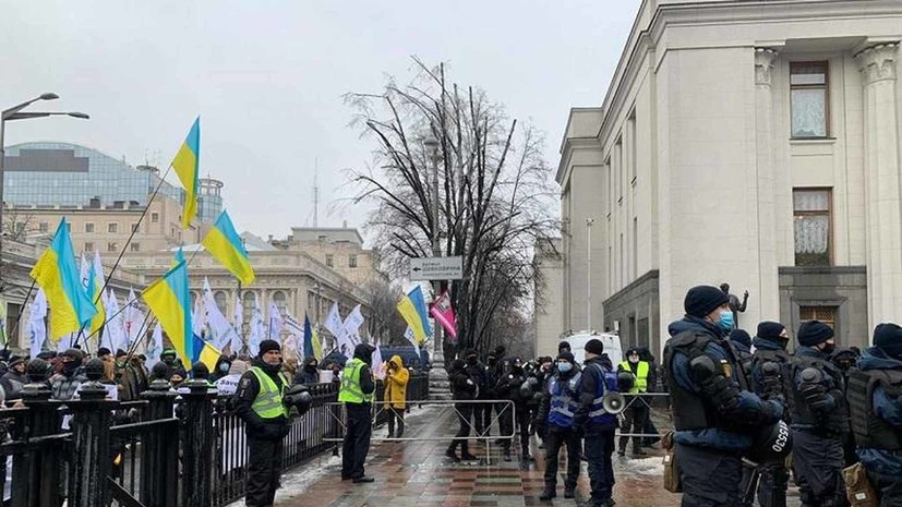 В Киеве предприниматели устроили акцию протеста