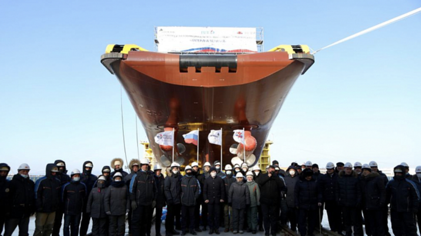В Приморье спустили со стапеля судно «Катерина Великая»