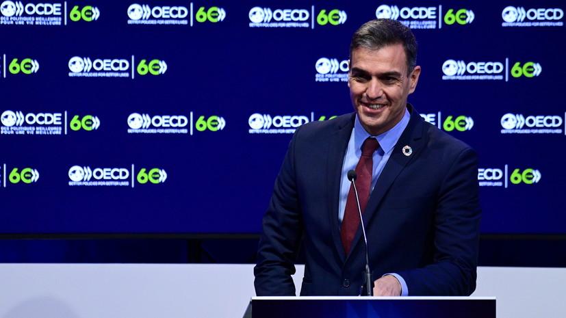 Премьер Испании ушёл на самоизоляцию после выявления у Макрона COVID-19