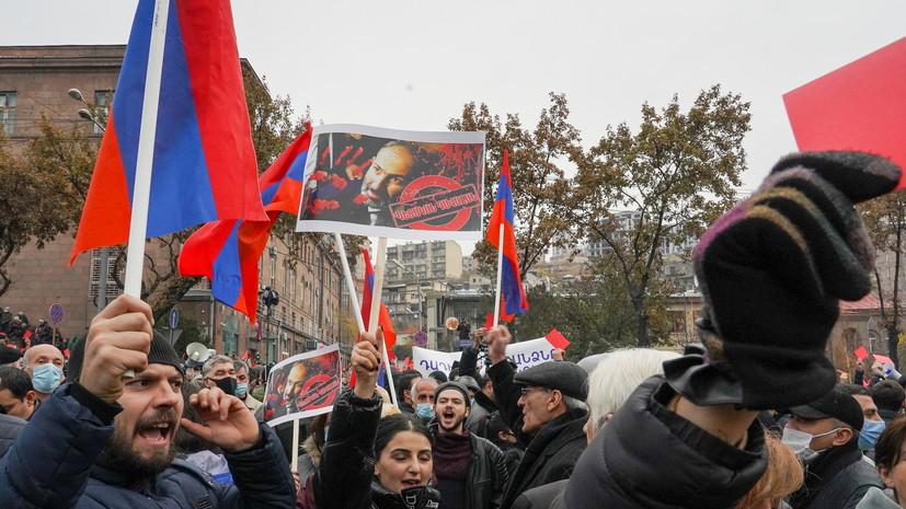 В Ереване началось очередное шествие противников Пашиняна