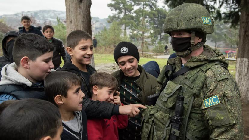 Российские миротворцы провели урок безопасности для школьников Нагорного Карабаха