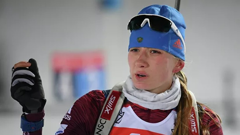 Миронова не знает, с чем связаны её промахи в спринте на этапе КМ по биатлону в Хохфильцене